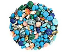 Mosaic 1lb bead bag includes assorted shapes, colors & sizes