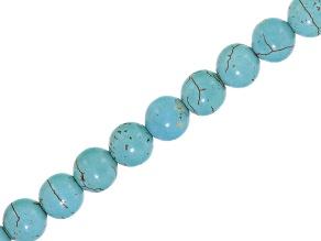 Turquoise Simulant 10mm round bead strand
