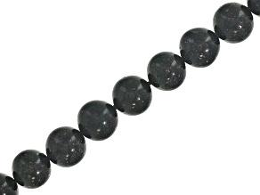 Honduran Black Opal appx 8.5mm Round bead strand appx. 165ctw