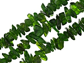 Chrome Diopside appx. 5x8mm Chip Loose Bead Strand Set of 3 appx. 33-34