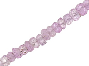 Pink Sapphire Graduated Faceted Rondelle appx 2-3mm Shape Bead Bead Strand appx 15-16
