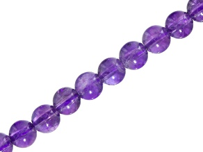 Amethyst appx 6mm Round Bead Strand appx 15-16