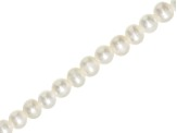 White Cultured Freshwater Pearls appx 6-7mm Potato Shape Large Hole Bead Strand