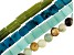 Quartzite, Serpentine & Mixed Ornamental Stone Bead Strand Set of 4 appx 15-16