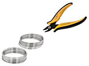 Lg Bracelet Heavy Duty Memory Wire & Semi Flush Cutters