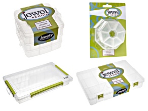 Jewel School Storage:3 Row/10 Compartment/3 Tier/1 Octagonal/2 Heptagonal Containers