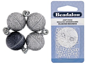 Magnetic Clasps Set Of 4 W/ Slv Over Set Of 80 Jump Rings