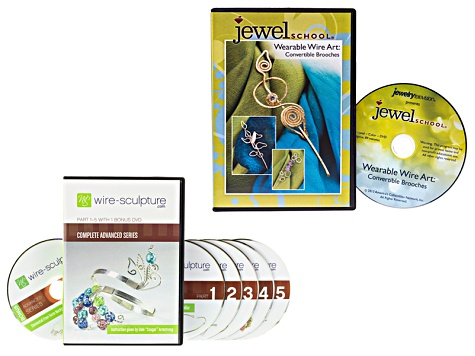 Entire Advanced Series Pt 1-5 W/ Bonus & Wearable Wire Art Brooches DVD Ttl 7 DVDs