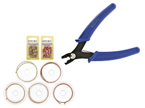 Artistic Wire Crimp Tool With 8 Braid Square Assorted Color Wire And Crimp Tubes