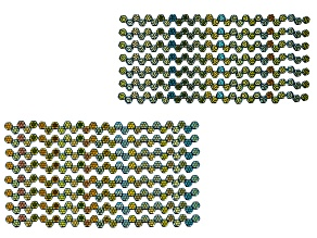 Honeycomb 6mm Glass Beads in Jet Color Laser Ab Core &Jet Color Laser Ab Web Apx 240 Beads Ea Design