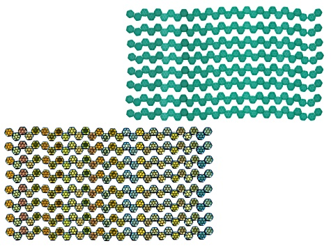 Honeycomb 6mm Glass Beads in Jet Color And Laser Silk Turquoise Appx 480 Beads