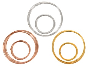 Heavy Duty Memory Wire Kit In Silver Tone, Rose Tone, & Gold Tone. 100 Grams Total In Each Tone