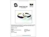 Centerstage Cuff Project And Supply Kit in Black, White & Silver Tone Cuff And Tutorial