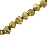 Druzy Agate Faceted appx 8mm Round Bead Strand Set of 3 in Assorted Colors appx 8