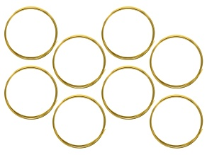 18G Square German Style Wire Set of 8 in Tarnish Resistant Brass appx 1.25M in length