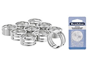 Jump Ring Open & Close Tool appx 19mm 10 pieces & Jump Rings Silver Tone Set of appx 80 Pieces