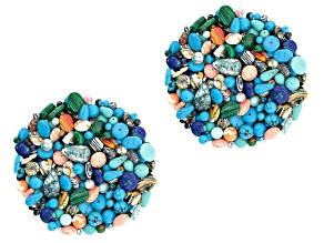 Mosaic 2lb bead bag includes assorted shapes, colors & sizes