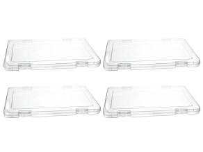 Flat Organizer Rectangular Box Set of 4 each Appx 31 X 23 X 2 Cm