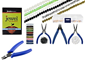 Jewel School® General Beading DVD & Jewelry Making Supply & Tool Kit in Storage Box