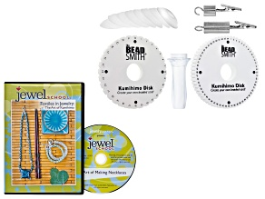 Textiles In Jewelry: The Art Of Kumihimo DVD 3 Projects & Lets Get Started With Kumihimo Supply Kit