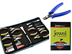 Jewel School® 10 piece Ergo Tool Kit With Pouch, Bead Crimper Tool & General Beading DVD