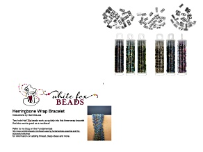 Tila Cymbal Beads, Seed Beads & Tila Miyuki 1/2 Cut 5mm 2 Hole Beads in 5 Colors & Bracelet Tutorial