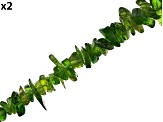 Chrome Diopside Chip appx 3-7mm Bead Strand Set of 2 appx 32-36