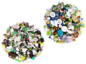 Czech Glass Beads 2lb Bag Of Assorted Shapes And Sizes in