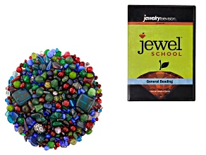 "Czech Glass Beads 1lb Bag in Assorted Shapes in  ""Majestic"" & Jewel School® General Beading DVD"