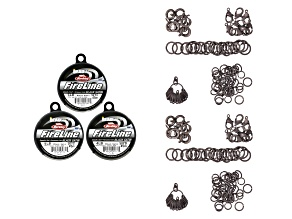 Fireline Black Color Collection Kit And Finding Assortment in Antiqued Silver Tone appx 224 pieces