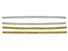 "Vine pattern 6"" Flat Wire Strips Includes 2 Pieces in Silver Tone and 2 Pieces in Gold Tone"