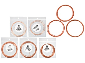 Copper Wire Kit In Gauges 14, 16, 18 20, 22, 24, 26 & 28 Appx 90 Feet Total