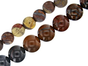Sunset Tiger Iron appx 6 & 10mm Round Bead Strand Set of 2 appx 15-16