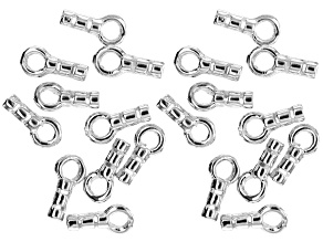 Crimping End Caps in Silver Tone Set of 20
