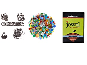 "General Beading DVD, Finding Assortment in Antique Silver Tone, Czech Glass Beads in ""Tie Dye"""