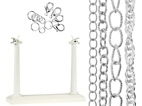 Aluminum Chain Kit in Silver Tone Appx 120