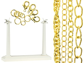 Aluminum Chain Kit in Gold Tone Appx 120