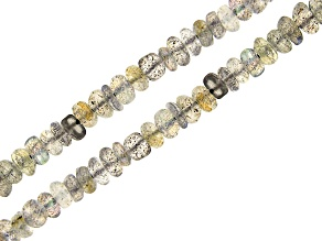 Labradorite Rondelle appx 4-6mm Bead Strand Set of 2 appx 15-16""