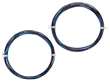 Picture of 20 Gauge and 22 Gauge Dark Blue, Light Blue, and Red Multi-Color Wire Appx 55 Feet