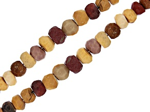 """Mookaite Graduated Faceted Rondelle appx 3-5mm Bead Strand Set of 2 appx 15-16"""""""