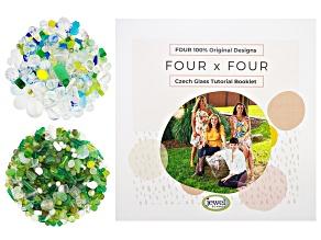 Czech Glass Beads 2lb Bag in 2 Styles & Four x Four Czech Glass Tutorial Booklet