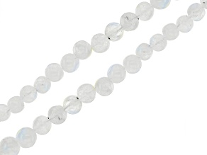 """White Moonstone Graduated Round appx 2-5mm Bead Strand Set of 2 appx 15-16"""""""