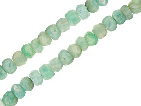 """Amazonite Graduated Faceted Rondelle appx 3-5mm Bead Strand Set of 2 appx 15-16"""""""