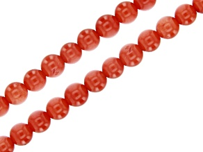 Orange Coral Round appx 4mm Bead Strand Set of 2 appx 15-16""