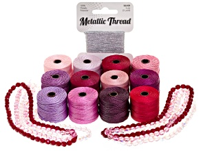 Spinster Cord Making Materials Kit in Raspberries And Roses Colorway