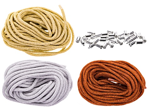 Climbing Rope 5mm Metallic Collection 30 Meters Total With Silver Tone End Caps