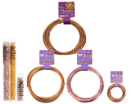 Aluminum Wire Kit includes Assorted Styles, Colors & Gauges Of Wire And Seed Beads