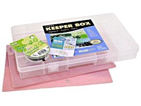 Essentials Kit: Flex Rite 49, 2mm Slv Crimp Tubes, Bead Mat, 20 Compartment Keeper Box&Lobster Clasp