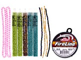 Tassel Pendant Necklace-Caribe Supply Kit includes Seed Bead Tubes, Seed Bead Strands & Fire Line