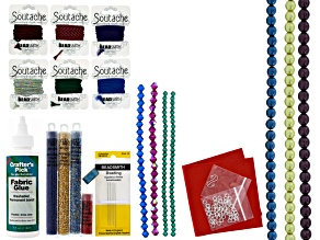 Soutache Supply Kit-Cool Jewel Tones To Create Tripping The Lights Fantastic Or Crystal Coil Project